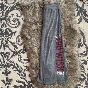 Pink Velour Cropped Pants sz M